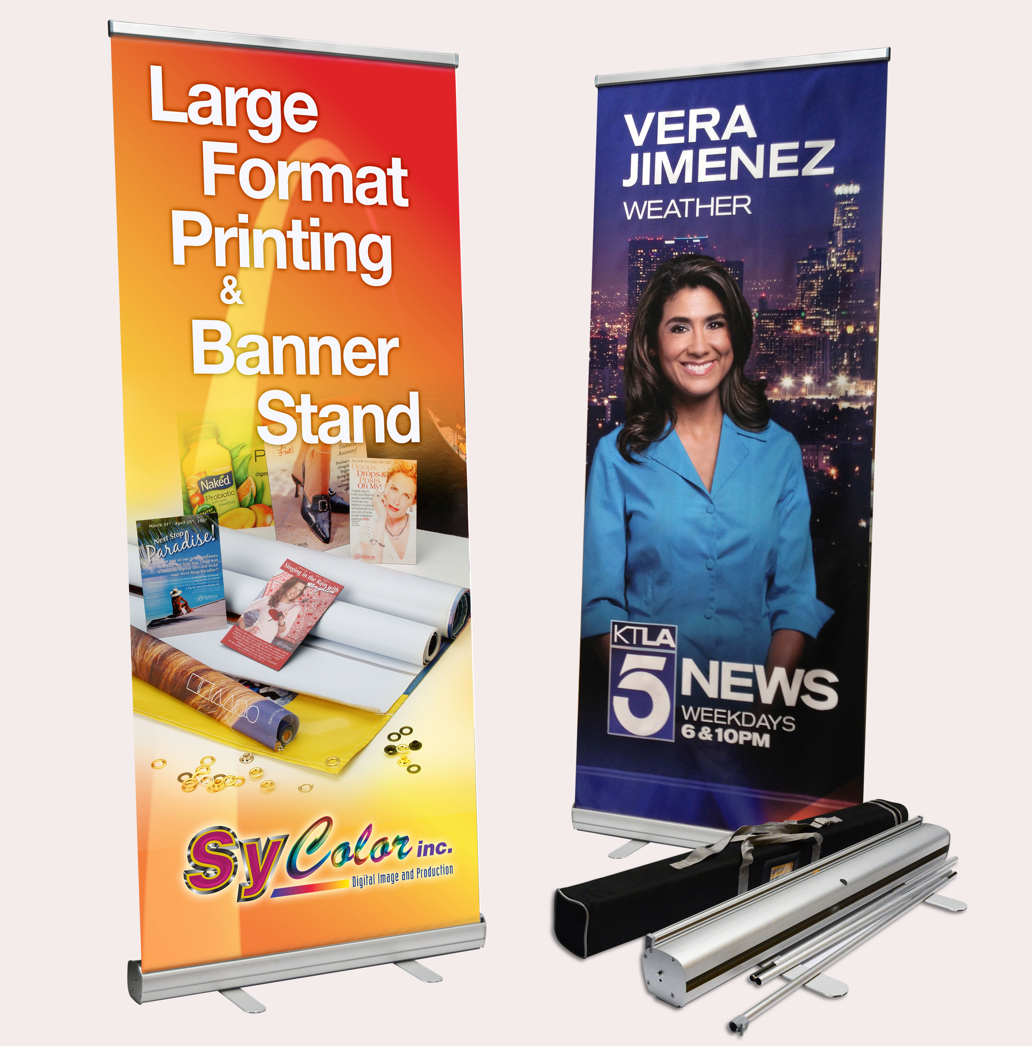 Econo Roll Up Banner Stand Sycolor