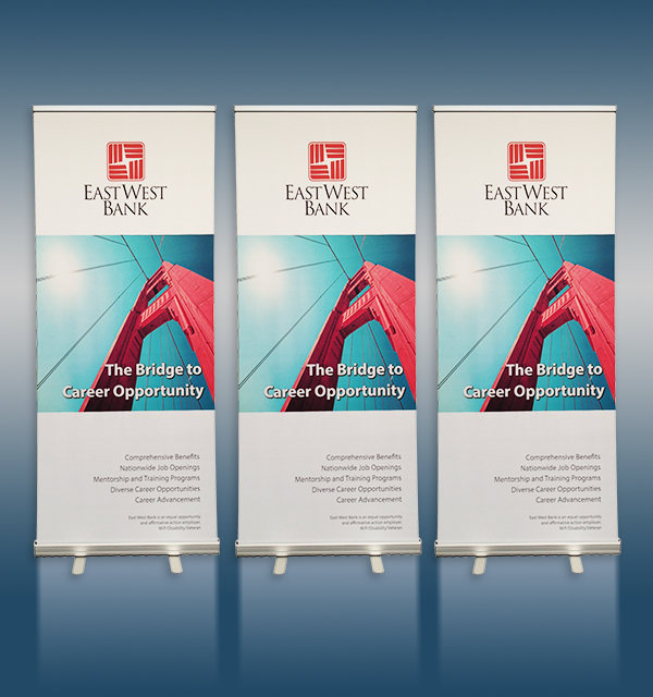 3 Econo Roll Up Banner Stand Pack Sycolor