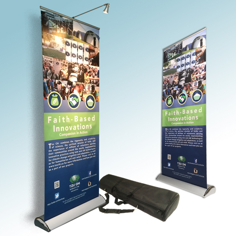 Exhibition Stand Graphic : Deluxe roll up banner stand sycolor